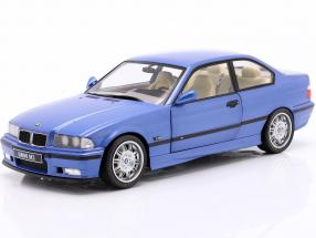 BMW M3 Coupe (E36) year 1990 estoril blue 1:18 Solido