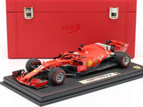S. Vettel Ferrari SF71H #5 winner Canadian GP F1 2018 With Showcase and Leather box 1:18 BBR