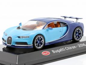 Bugatti Chiron year 2016 light blue / dark blue 1:43 Altaya