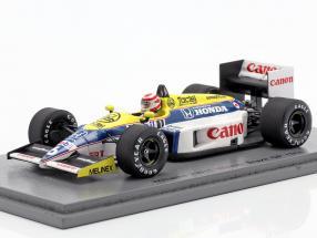 Nelson Piquet Williams FW11 #6 Winner Brazilian GP formula 1 1986 1:43 Spark