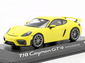 Porsche 718 Cayman GT4 Spectrum Edition 2020 yellow 1:43 Minichamps