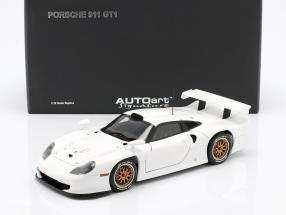 Porsche 911 GT1 Year 1997 Plain Body Version white 1:18 AUTOart