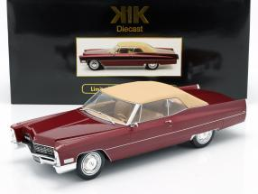 Cadillac DeVille with Softtop year 1967 bordeaux-red metallic 1:18 KK-Scale