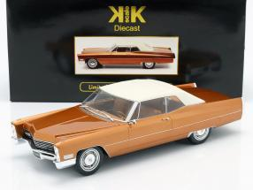 Cadillac DeVille With Softtop year 1967 gold-brown metallic 1:18 KK-Scale