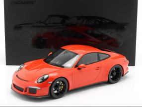 Porsche 911 (991) R year 2016 lava orange 1:12 Minichamps