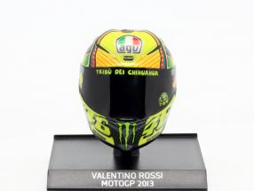 Valentino Rossi MotoGP 2013 AGV helmet 1:10 Minichamps