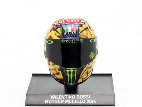 Valentino Rossi MotoGP Mugello 2014 AGV helmet 1:10 Minichamps
