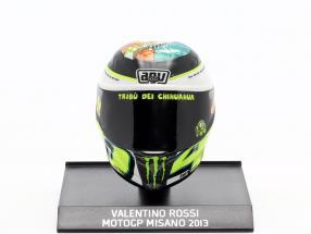 Valentino Rossi MotoGP Misano 2013 AGV helmet 1:10 Minichamps