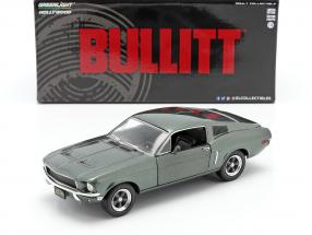 Ford Mustang GT year 1968 Movie Bullitt (1968) green metallic 1:24 Greenlight
