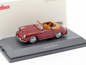 Porsche 356A Cabriolet golf dark red 1:43 Schuco