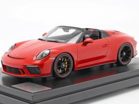 Porsche 911 (991 II) Speedster year 2019 guards red with Showcase 1:12 Spark