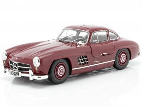 Mercedes-Benz 300 SL (W198) Gullwing year 1955 dark red 1:18 Minichamps