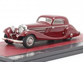 Mercedes-Benz 540K Special Coupe (W29) year 1936 dark red 1:43 Matrix