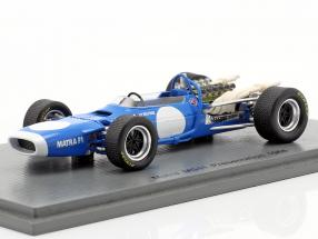 Jean-Pierre Beltoise Matra MS11 Presentation Car formula 1 1968 1:43 Spark