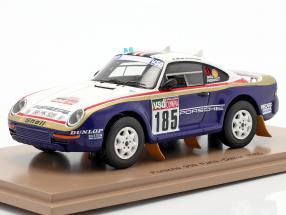 Porsche 959 #185 Rallye Paris - Dakar 1985 Ickx, Brasseur 1:43 Spark