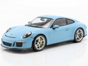 Porsche 911 (991) R year 2016 gulf blue 1:12 Minichamps
