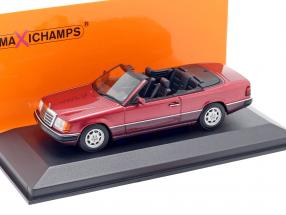 Mercedes-Benz 300 CE-24 Cabriolet (A124) 1991 dark red metallic 1:43 Minichamps