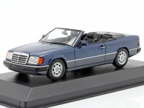 Mercedes-Benz 300 CE-24 Cabriolet (A124) 1991 blue metallic 1:43 Minichamps