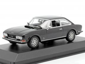 Peugeot 504 Coupe year 1976 dark gray metallic 1:43 Minichamps
