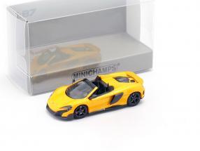 McLaren 675LT Spider year 2016 volcano yellow 1:87 Minichamps