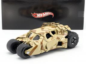 Tumbler Batman The Dark Knight Rises Movie Car 2012 camouflage 1:18 HotWheels