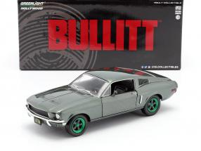 Ford Mustang GT year 1968 Movie Bullitt (1968) green rims 1:24 Greenlight