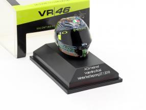 Valentino Rossi Winter Test Sepang MotoGP 2018 AGV helmet 1:8 Minichamps