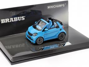 Smart Brabus Ultimate 125 Cabriolet year 2017 blue 1:43 Minichamps