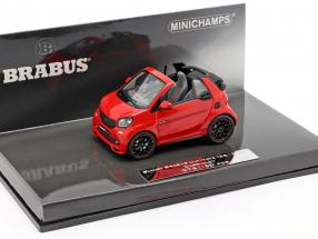 Smart Brabus Ultimate 125 Cabriolet Construction year 2017 red 1:43 Minichamps