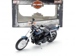 Harley Davidson Dyna Super Glide Sport year 2004 dark blue / black 1:12 Maisto