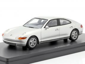 Porsche 989 prototype year 1988 silver 1:43 AutoCult