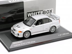 MItsubishi Lancer Evo V RS RHD silver 1:43 WhiteBox