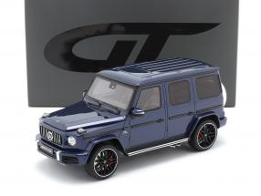 Mercedes-Benz G class G63 AMG year 2019 brilliant blue 1:18 GT-Spirit