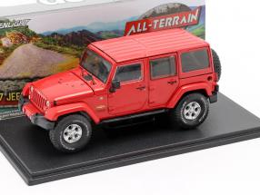 Jeep Wrangler Unlimited Sahara year 2017 red 1:43 Greenlight