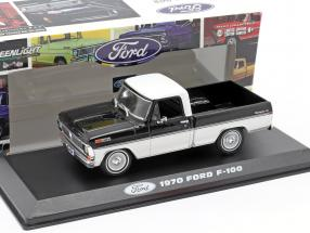 Ford F-100 Pick-Up year 1970 black / white 1:43 Greenlight