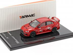 Mitsubishi Lancer Evolution X Ralliart red 1:64 Tarmac Works
