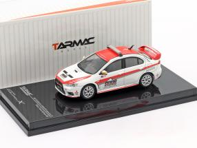 Mitsubishi Lancer Evolution X Pikes Peak Safety Car white / red 1:64 Tarmac Works