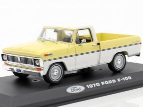 Ford F-100 Pick-Up year 1970 yellow / white 1:43 Greenlight
