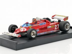 Gilles Villeneuve Ferrari 126CK #27 Italian GP formula 1 1981 1:43 Brumm