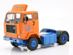 Volvo F88 Deutrans Truck year 1965 orange / blue 1:18 Road Kings
