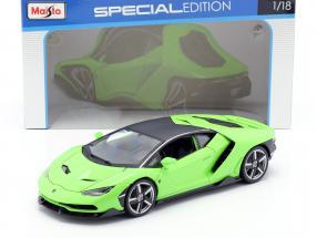 Lamborghini Centenario LP770-4 year 2016 green 1:18 Maisto