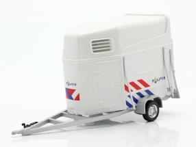 Horse Trailer Dutch police white 1:43 Cararama