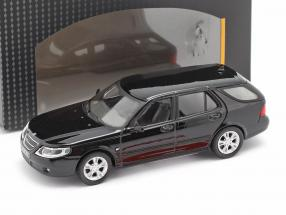 Saab 9.5 Touring Station wagon black 1:43 Cararama