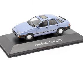 Ford Sierra Ghia year 1984 light blue metallic 1:43 Altaya