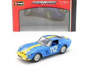 Ferrari 250 GTO #112 blue / yellow 1:24 Bburago