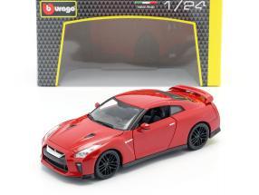Nissan GT-R year 2017 red 1:24 Bburago