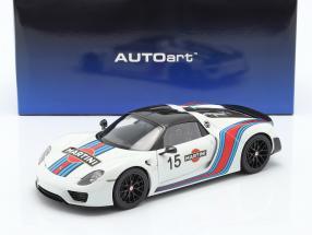 Porsche 918 Spyder Weissach Package Martini year 2013 hite 1:18 AUTOart