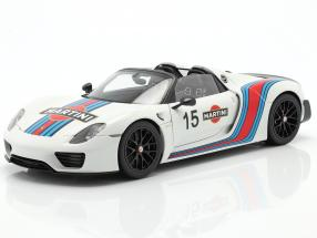 Porsche 918 Spyder Weissach Package Martini year 2013 hite 1:18 AUTOart