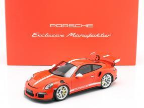 Porsche 911 (991) GT3 RS IAA Edition 2015 lava orange 1:18 Spark limited 300 pcs