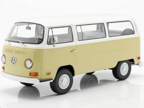 Volkswagen VW T2b Bus Year 1971 beige / white 1:18 Greenlight